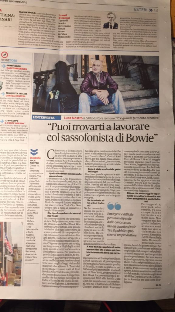Interview on the Italian newspaper Il Fatto Quotidiano