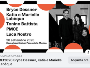 ****ST CAROLYN BY THE SEA, SOLOIST WITH BRYCE DESSNER **** @ ROMA EUROPA FESTIVAL 2020